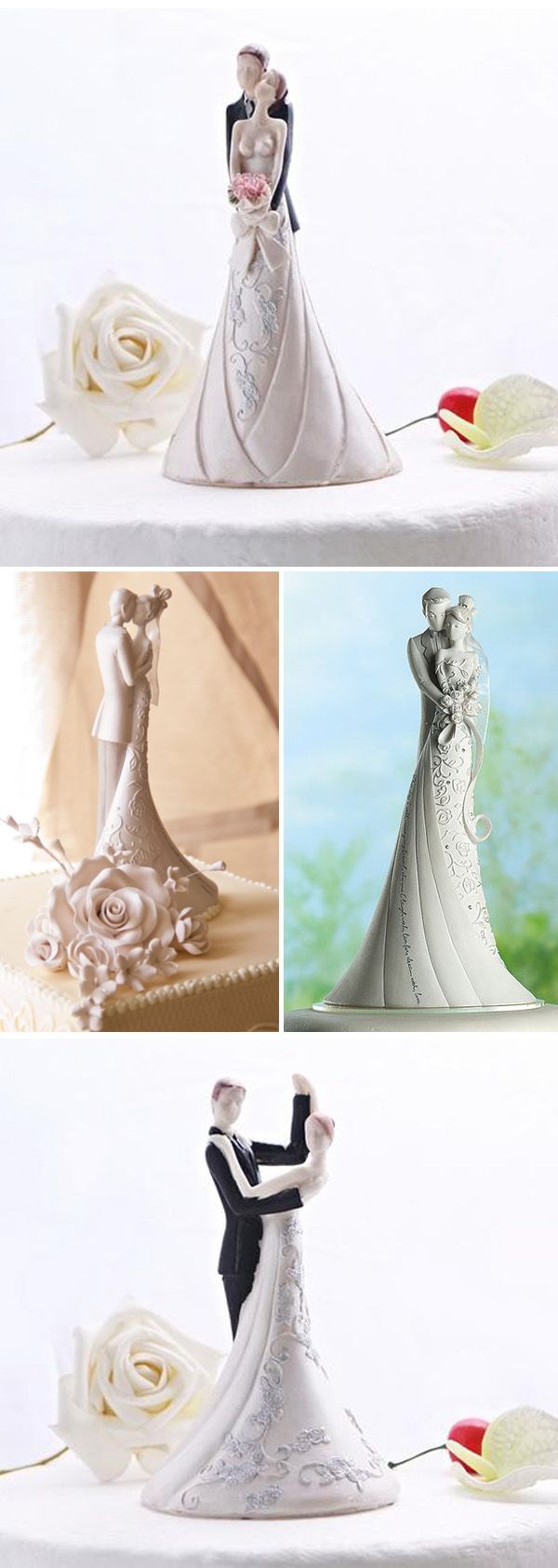 dancing bride and groom wedding gifts and cake toppers