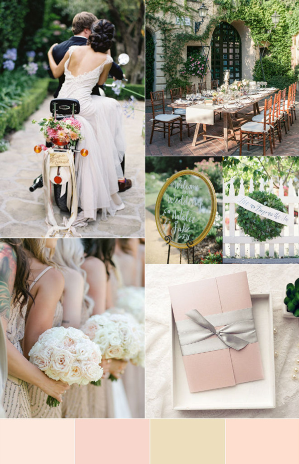 elegant pink and blush garden wedding inspiration