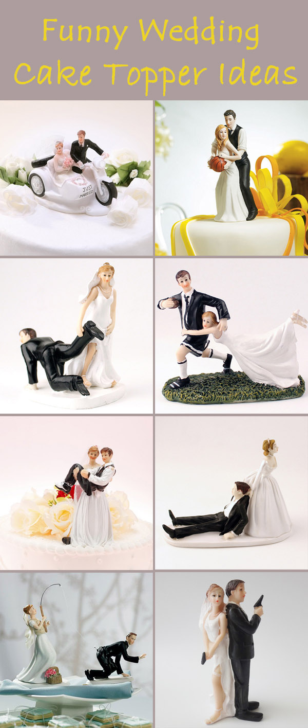Different And Funny Wedding Gifts And Cake Toppers - Funny Wedding Cakes Images