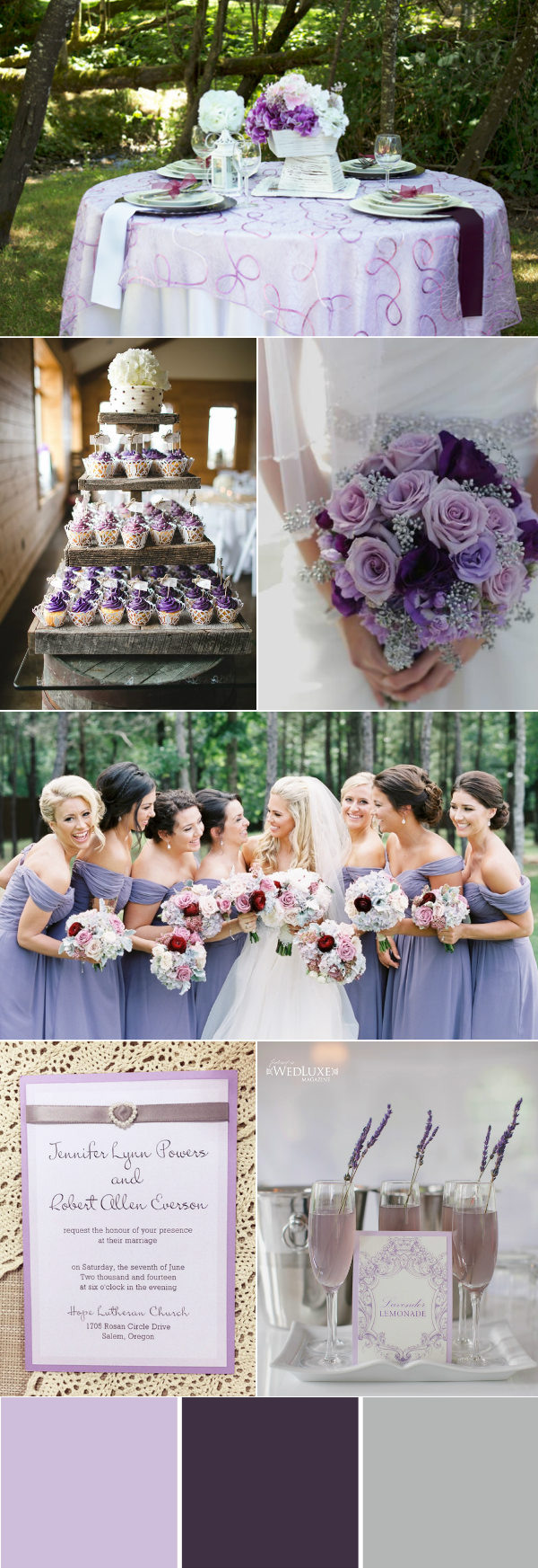lovely lavendar purple and silver wedding ideas