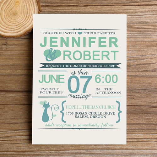 mint and navy wedding invitations