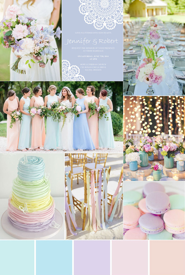 ruatic pastel wedding ideas for spring and summer