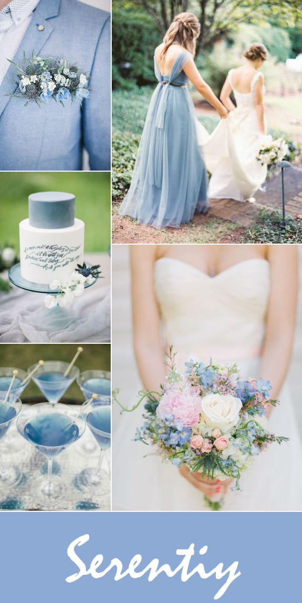 2016 pantone serenity blue wedding color ideas