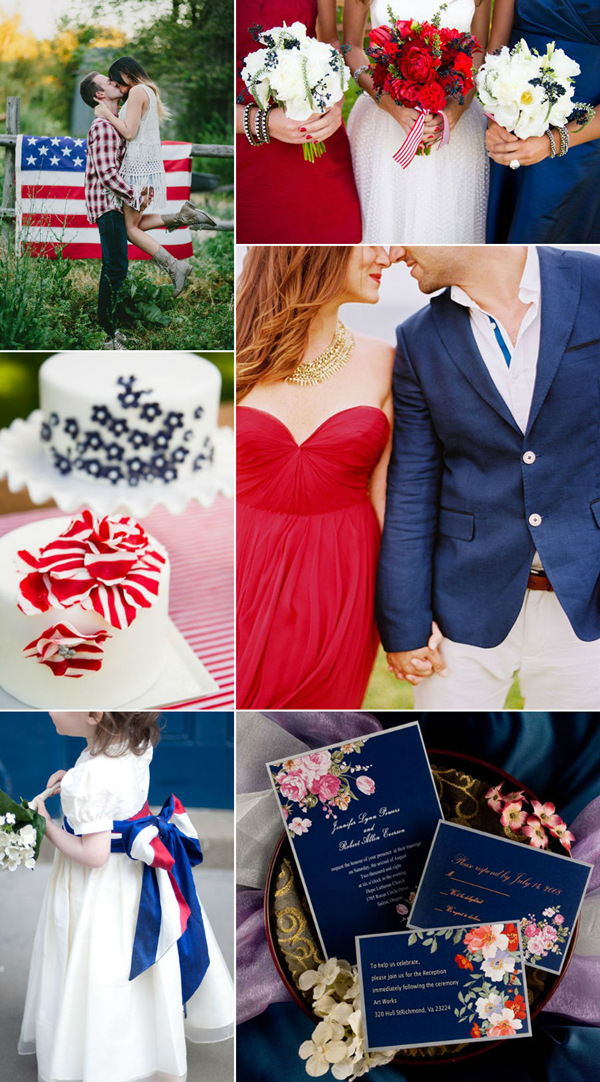 Fourth Of July Inspired Wedding Ideas With Red White And Navy