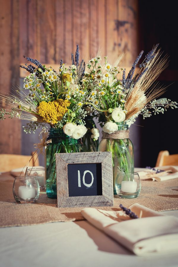 Chalkboard Table Numbers For Rustic Weddings