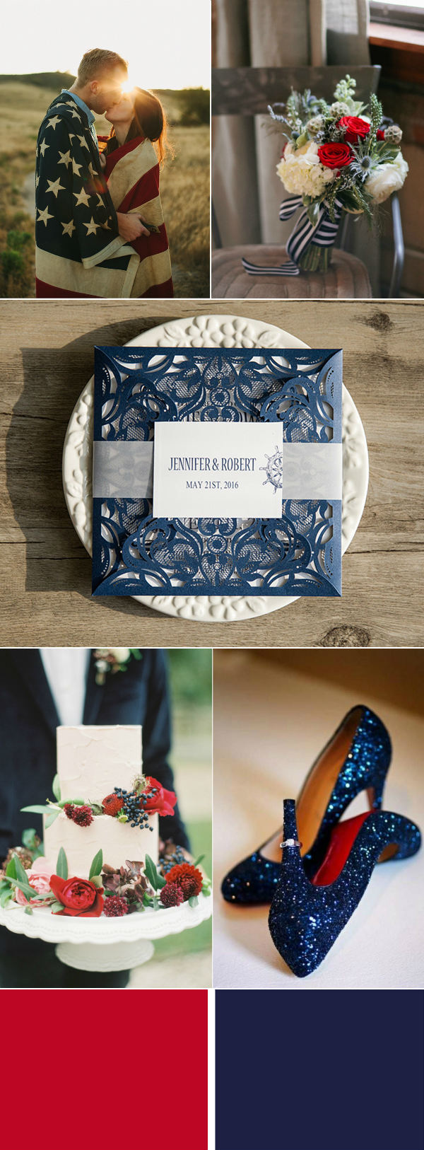 classic 4th of July thmed wedding ideas