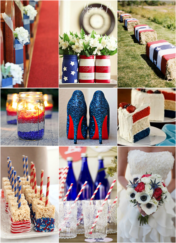 creative wedding ideas for July 4th wedding