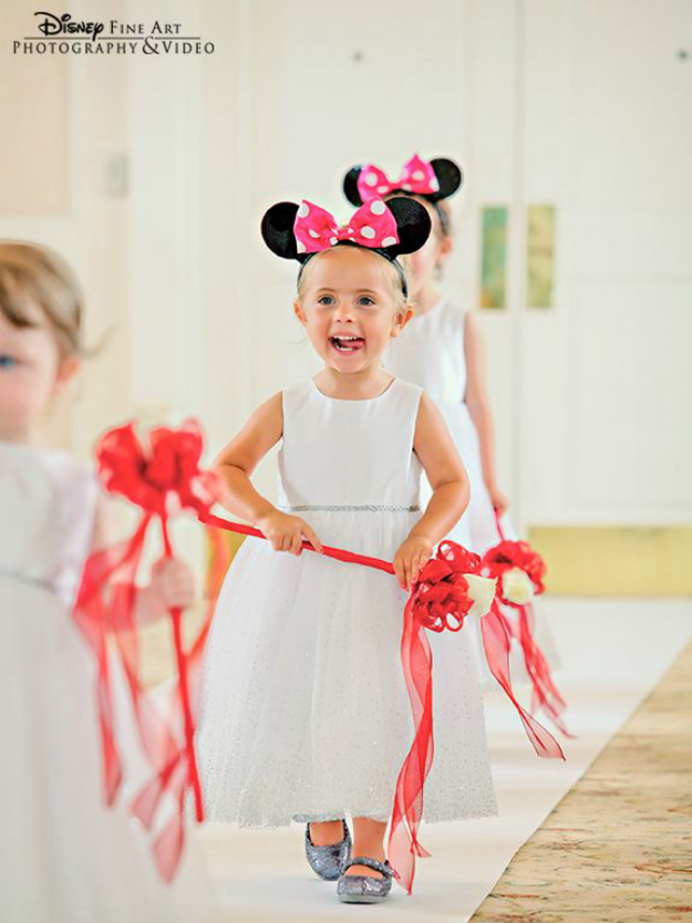 cute minnie mouse flower girl