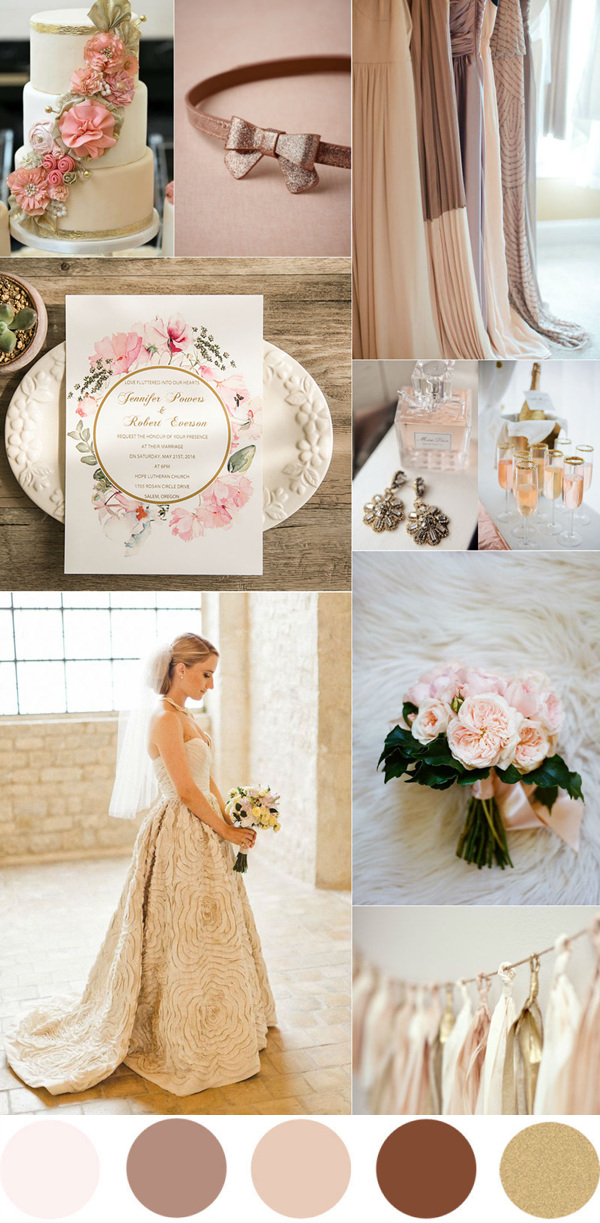 TOP 7 Amazing Pink And Gold Wedding Color Palettes ...