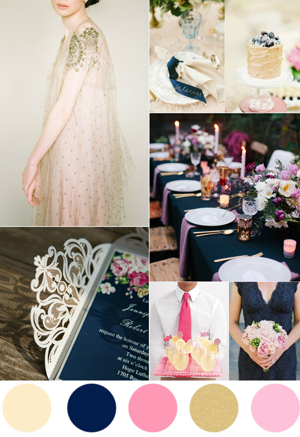 Top 7 Amazing Pink And Gold Wedding Color Palettes