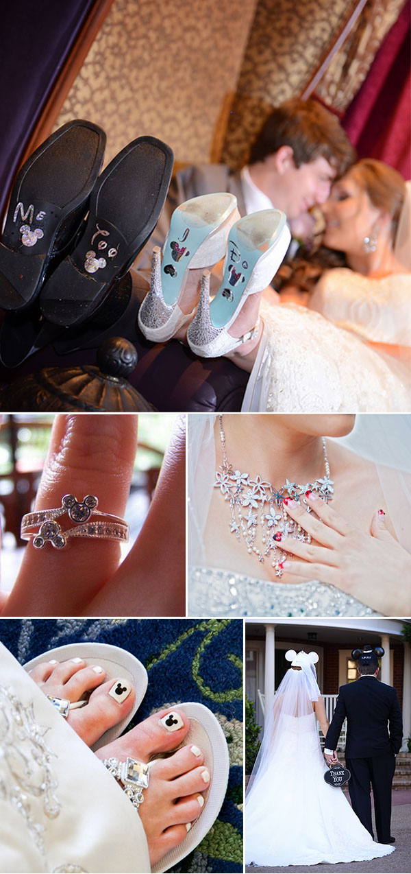how to add disney accents to your weddings with small accessories