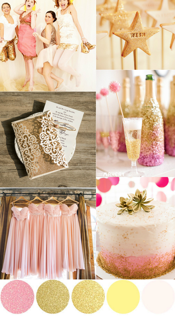 TOP 7 Amazing Pink And Gold Wedding Color Palettes Elegantweddinginvites Blog