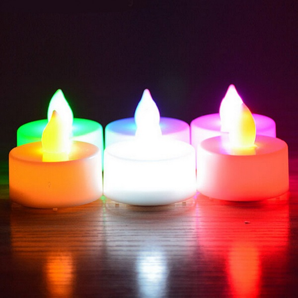 romantic 24pcs color-changing flameless LED tealight candles wedding decoration & favor