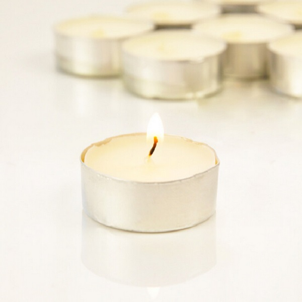 romantic white candle favors for wedding tea lights baby shower favor EWFW003