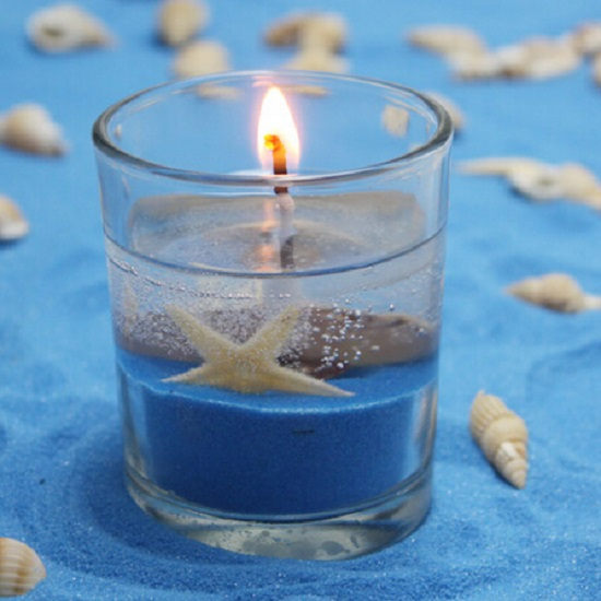 sea jelly candles with round cup valentine's day wedding favors