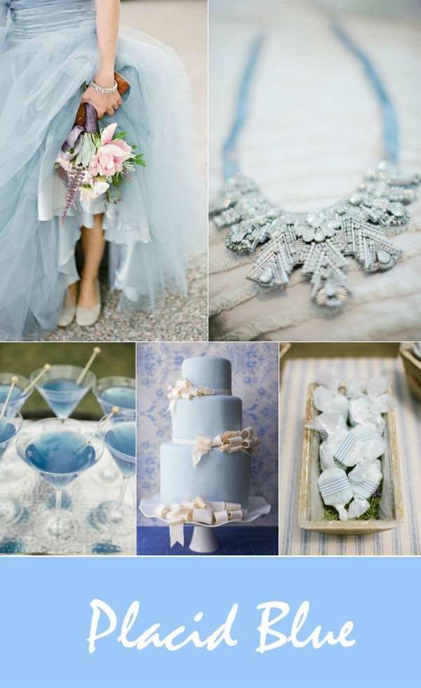 shabby chic placid blue wedding color inspiration