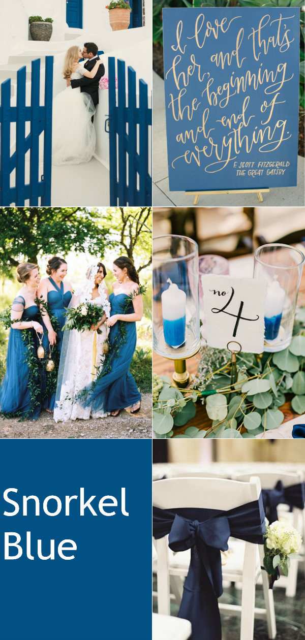 snorkel blue 2016 fall wedding color ideas