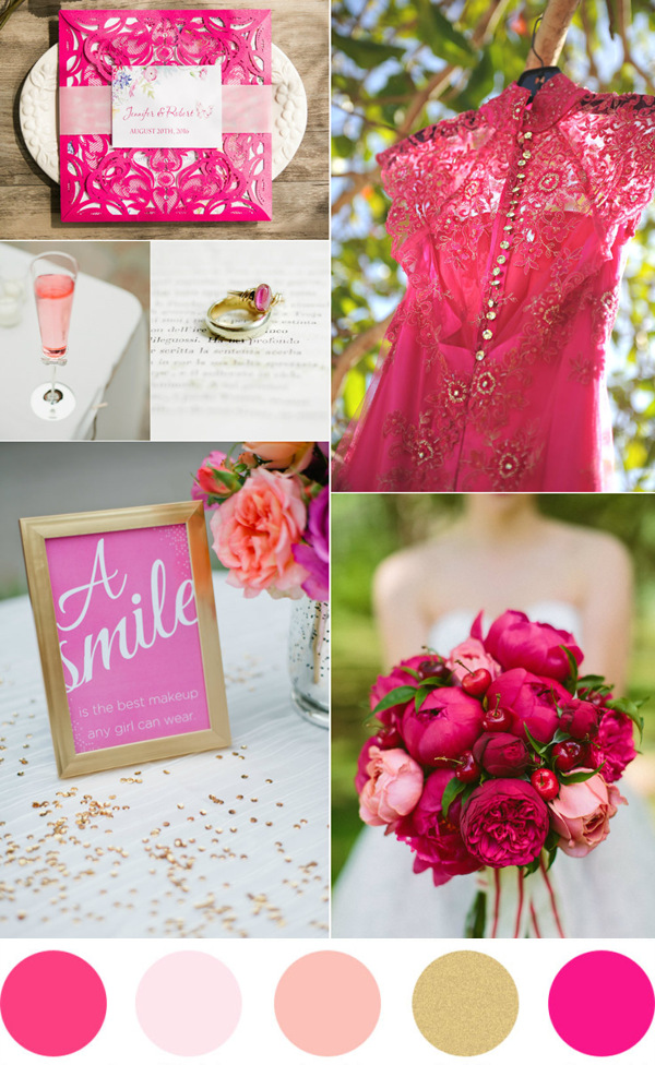 Stunning Hot Pink And Gold Wedding Ideas