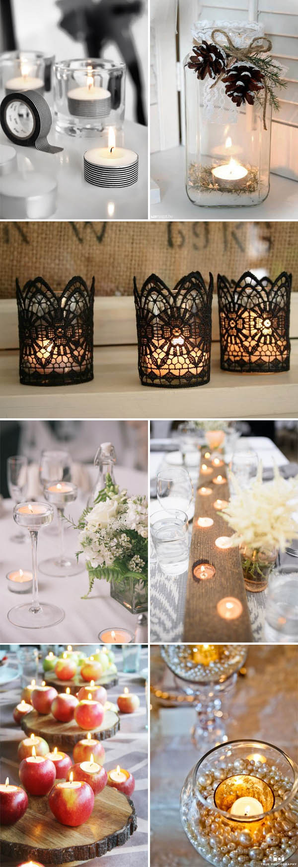 super easy DIY wedding decor ideas with simple short candles