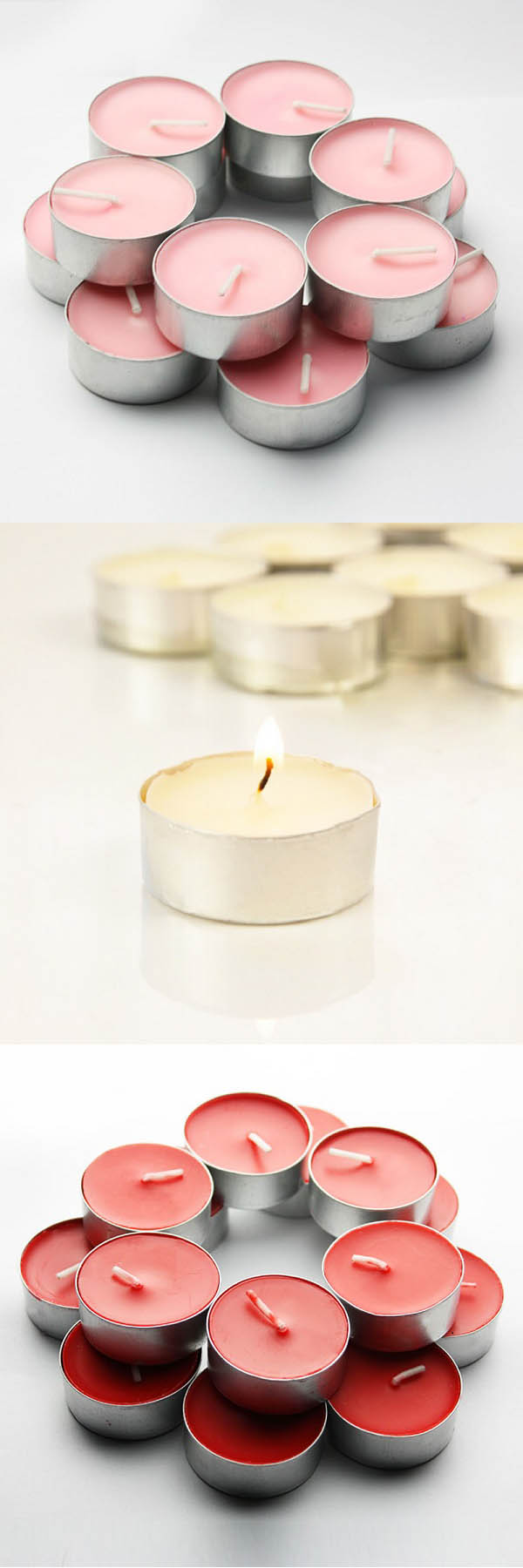 tea light candles wedding favors