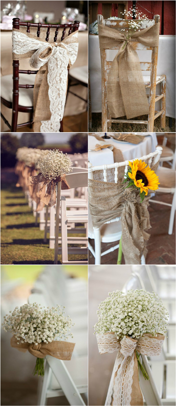 30 rustic burlap and lace wedding ideas blog. Black Bedroom Furniture Sets. Home Design Ideas