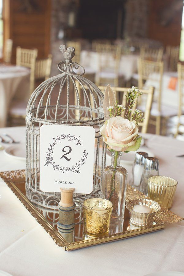gorgeous birdcage centerpieces ideas for vintage weddings