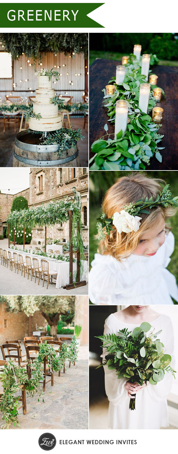 Natural Greenery Wedding Trends For 2018