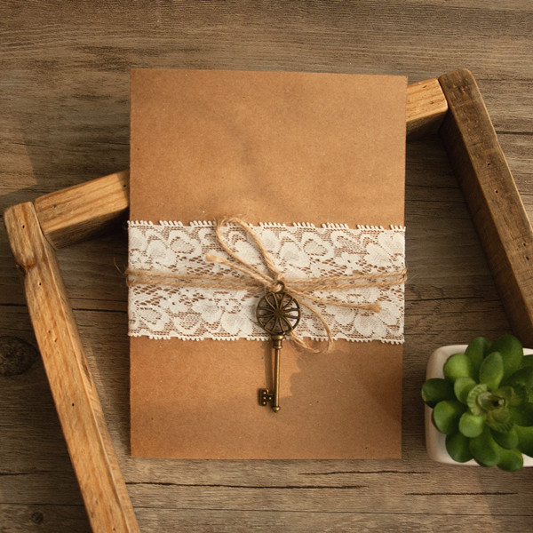rustic vintage wedding invitations