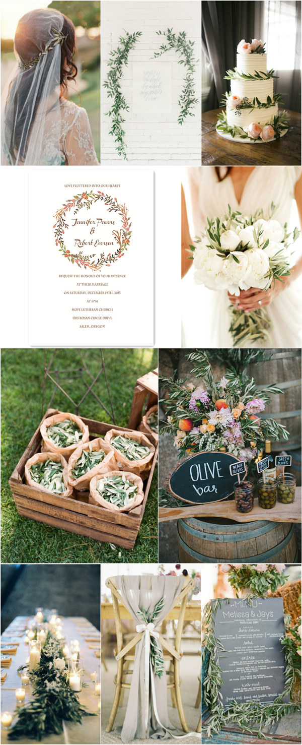 rustic wedding ideas with elegant olive green details