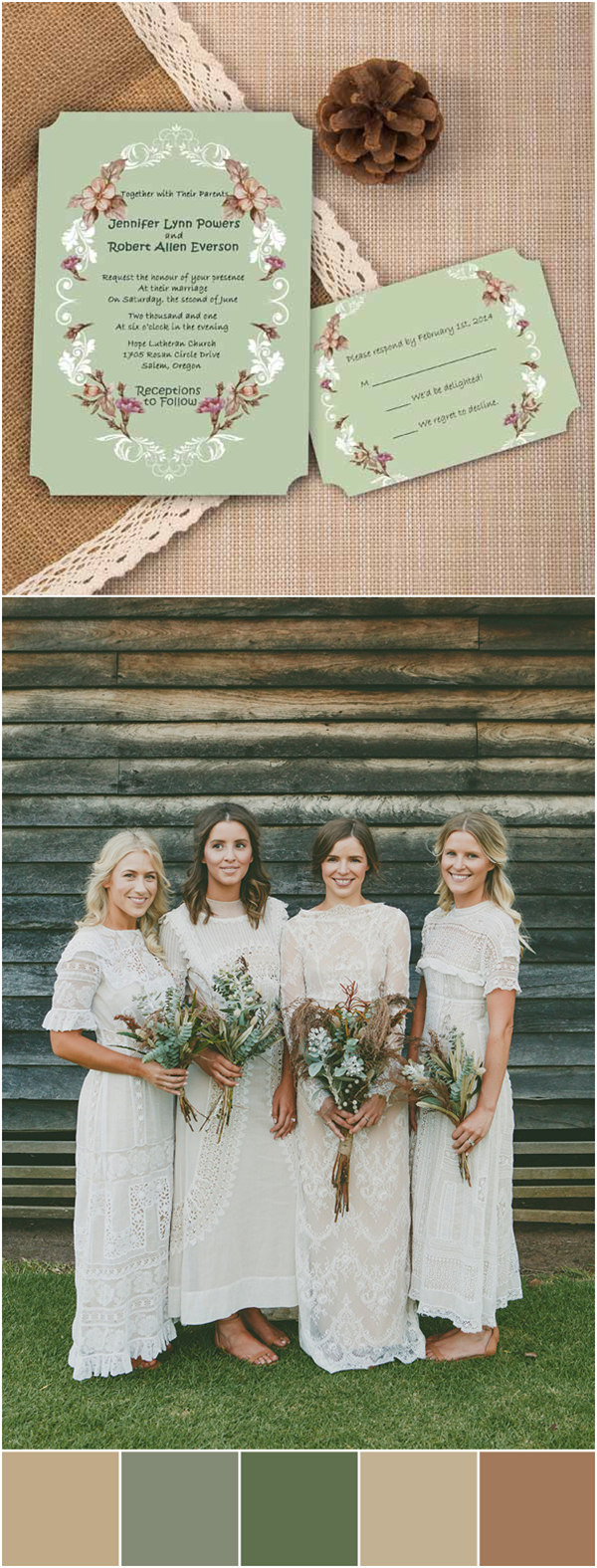 Shabby Chic Fall Rustic Wedding Color Ideas With Elegant Invites