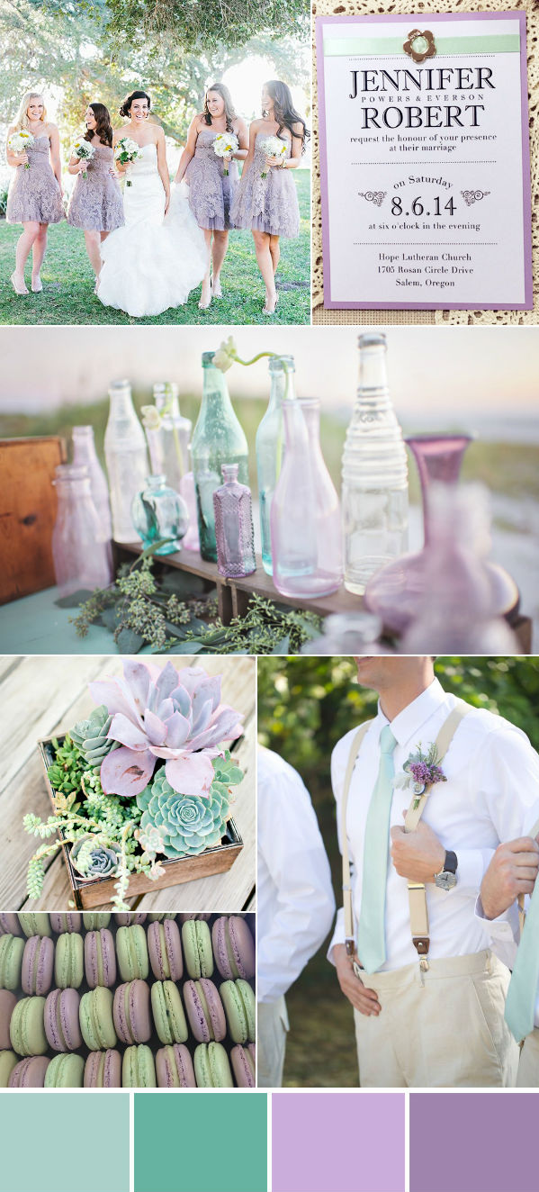 stunning mint and lavender purple wedding color ideas for fall