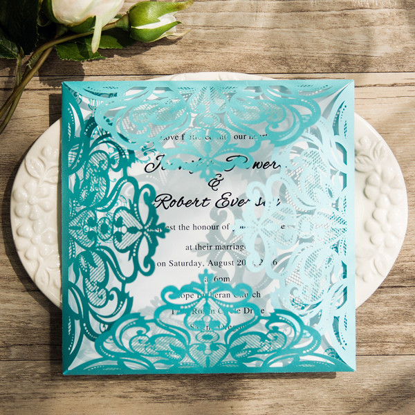 TOP 10 Blue Wedding Invitations From EWI For All Brides