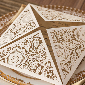 vintage laser cut wedding invitations
