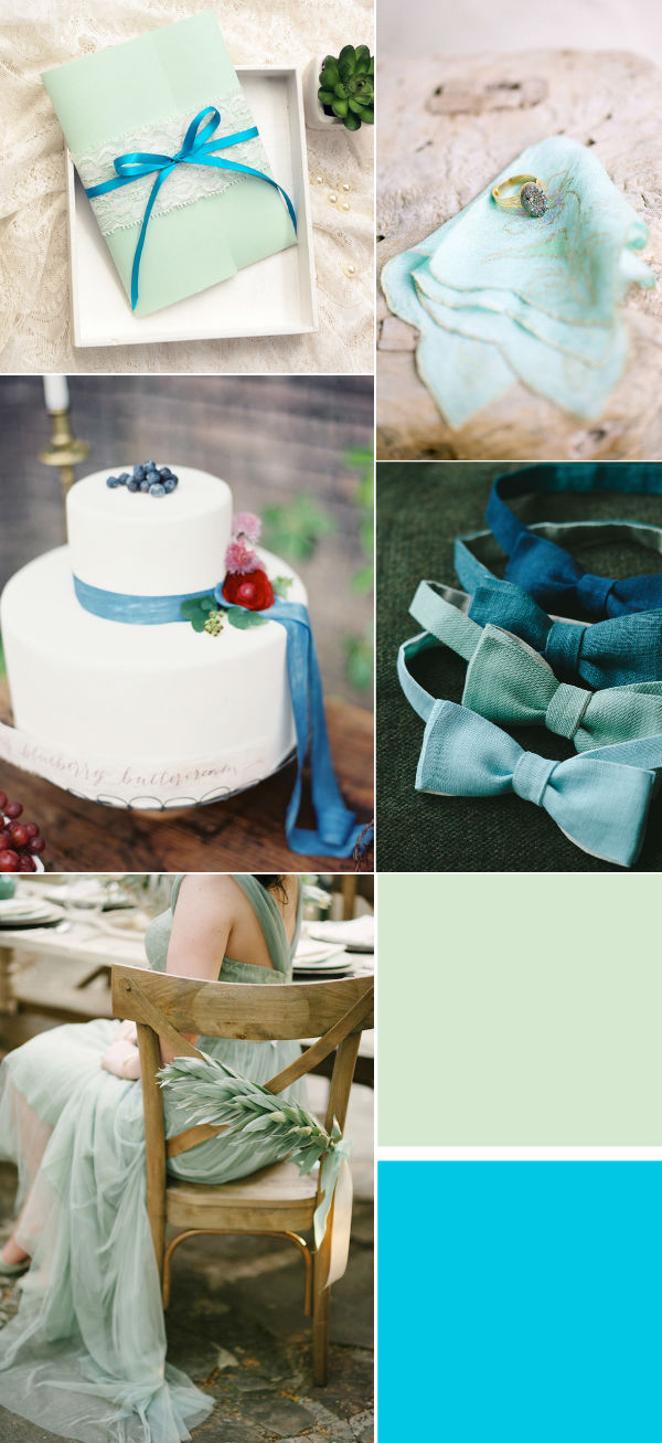 wonderful mint and blue wedding color ideas