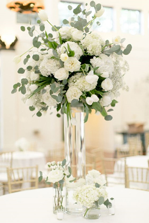 2017 wedding trends top 30 greenery wedding decoration ideas beautiful white and green wedding centerpieces junglespirit Image collections