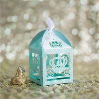 blue wedding favor box