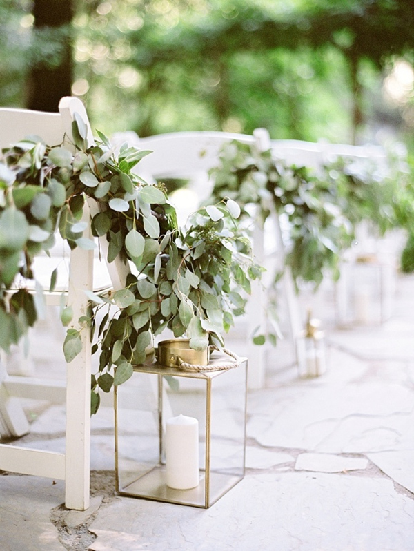 2017 wedding trends top 30 greenery wedding decoration ideas elegant wedding aisle decoration ideas with greenery floral and lanterns junglespirit Image collections