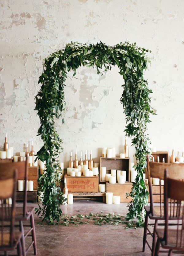2017 wedding trends top 30 greenery wedding decoration ideas greenery wedding arch ideas for 2017 trends junglespirit Choice Image