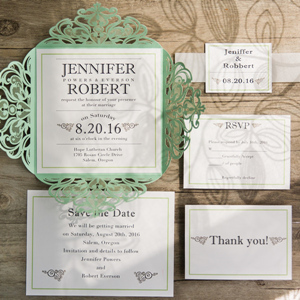 simple and elegant laser cut wedding invitations for 2017