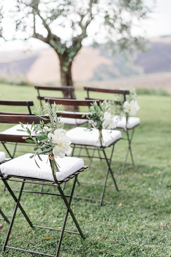 2017 wedding trends top 30 greenery wedding decoration ideas wedding chair decoration ideas with white and green floral junglespirit Gallery