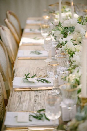 Beautiful White And Green Wedding Centerpieces Table Setting Ideas 2017 Trends
