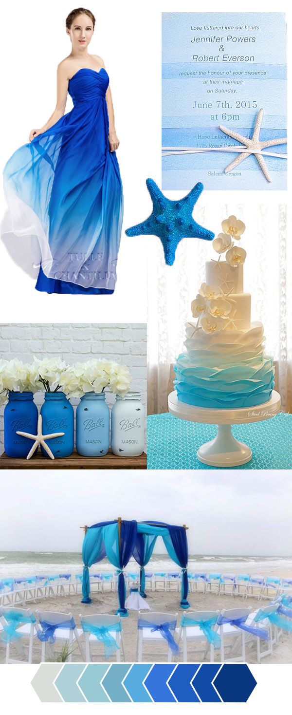 Blue Beach Wedding Color Ideas