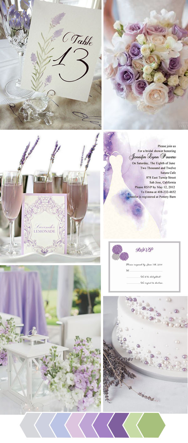 Lavender Rustic Wedding Color Ideas