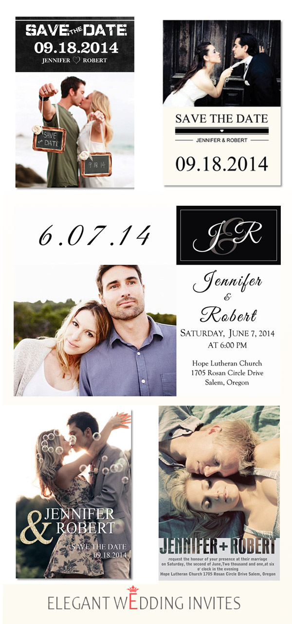 Unique DIY Custom Photo Wedding Invitations