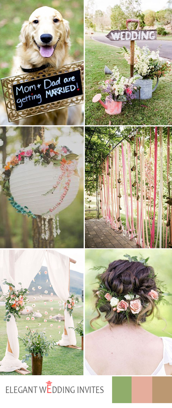 greenery garden  wedding ideas for 2017 spring