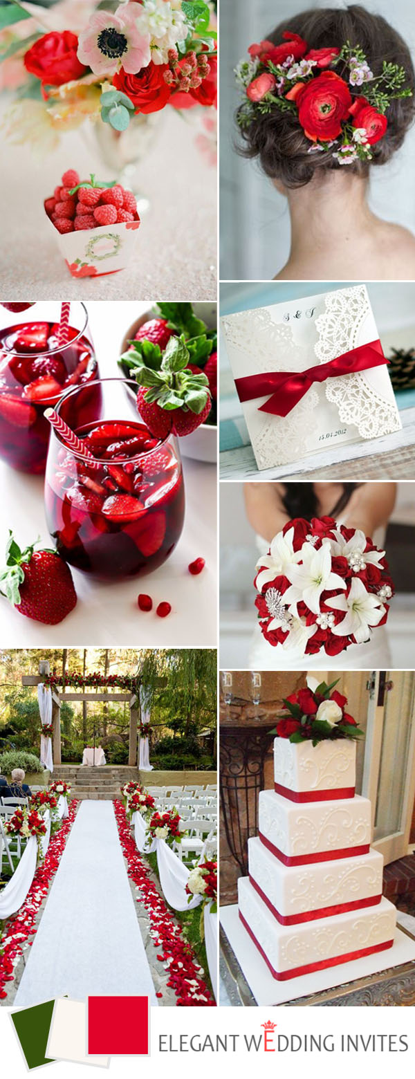red and green wedding color ideas for 2017 trends