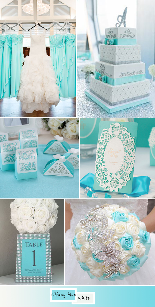 Top 5 perfect shades of blue wedding color ideas for 2017 elegant and chic tiffany blue wedding color ideas junglespirit Images