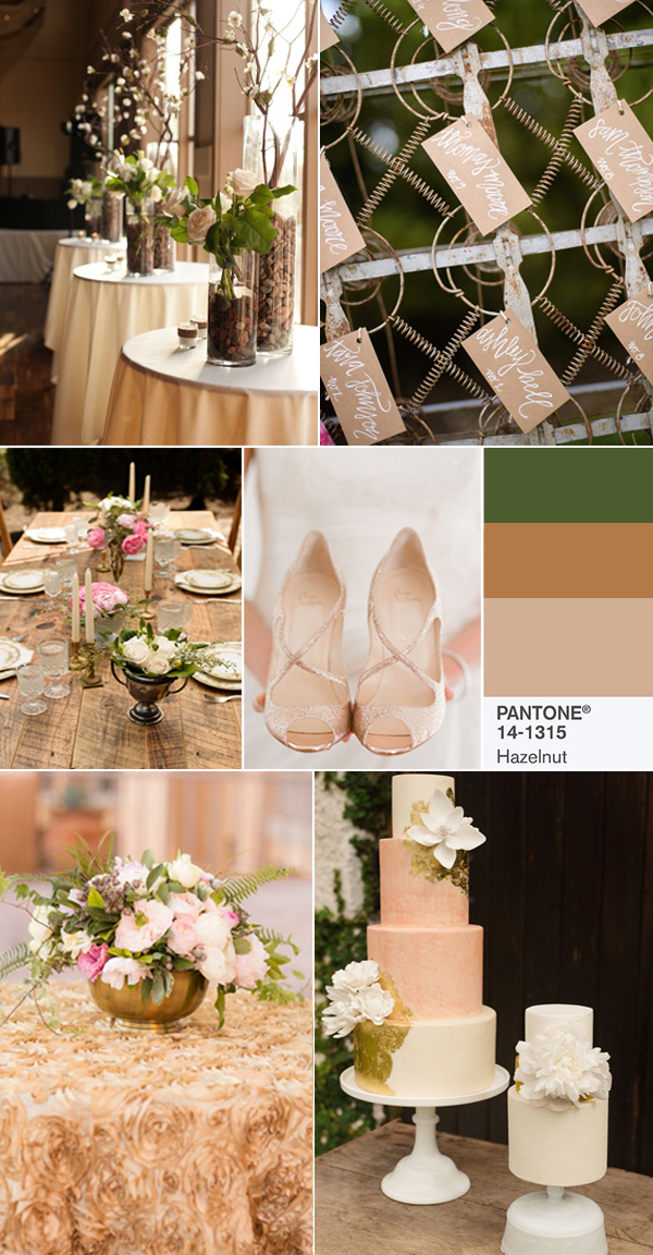 2017 natural hazeInut wedding color ideas