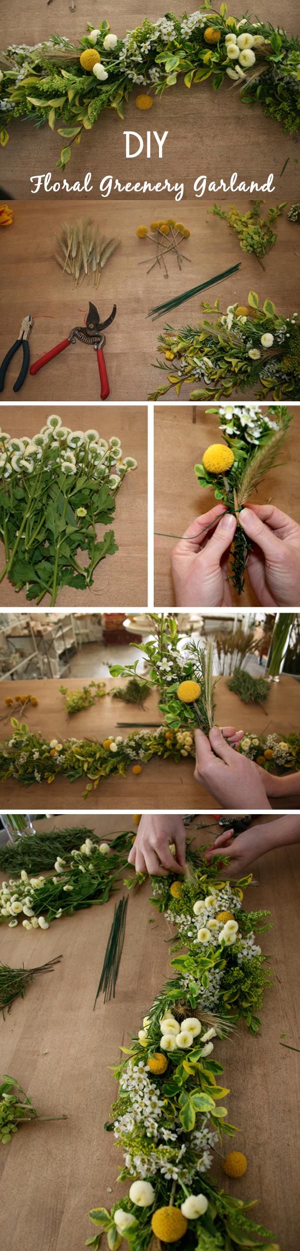 8 effortless diy wedding ideas with tutorials do it yourself floral greenery garland for weddings solutioingenieria Images