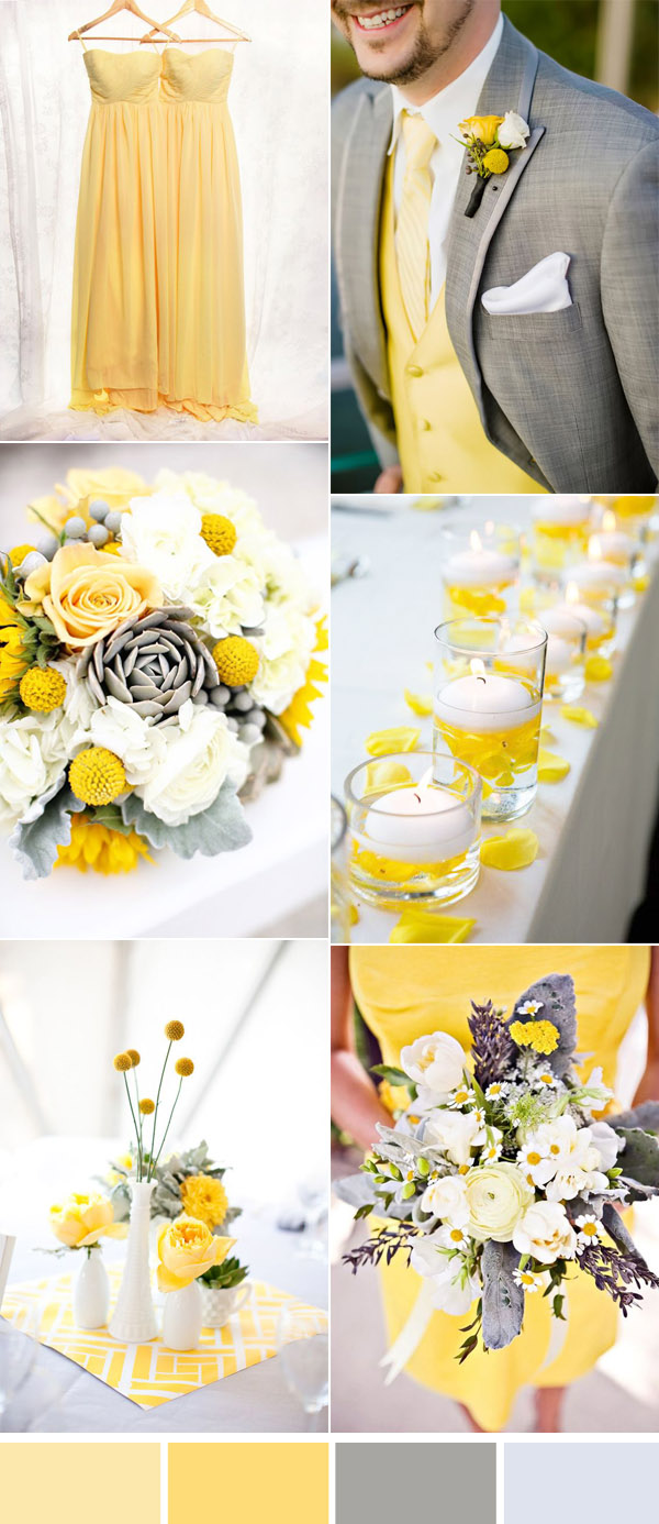 Five Beautiful Wedding Colors In Shades of Grey ...